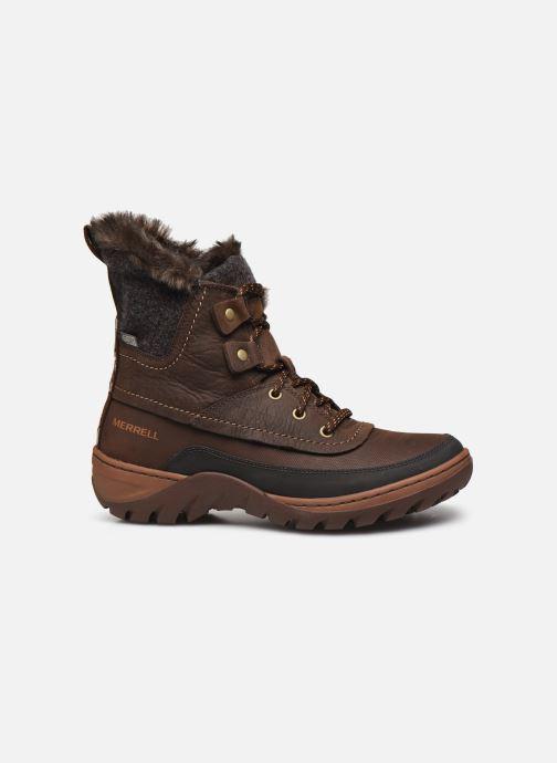 Chaussures de sport Merrell Sylva Mid Lace Waterproof Marron vue derrière