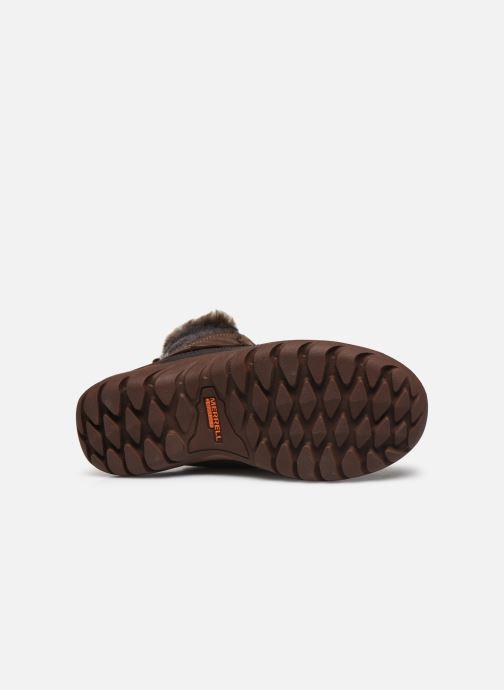 Chaussures de sport Merrell Sylva Mid Lace Waterproof Marron vue haut