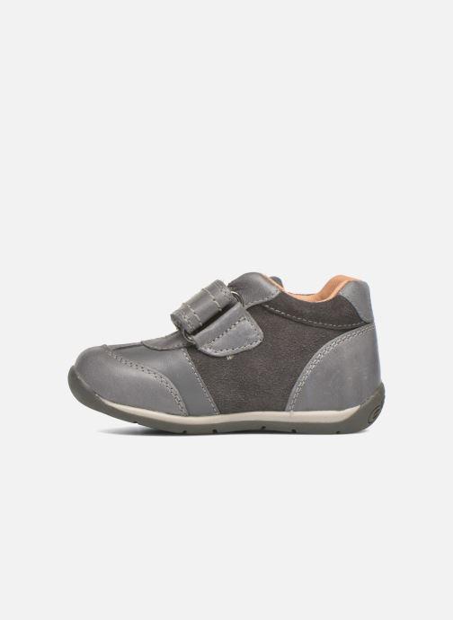 Chaussures à scratch Geox B Each Boy B540BD Gris vue face