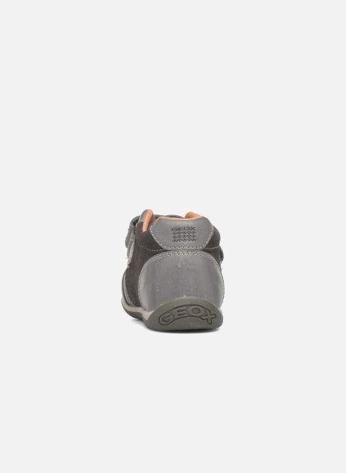 Zapatos con velcro Geox B Each Boy B540BD Gris vista lateral derecha