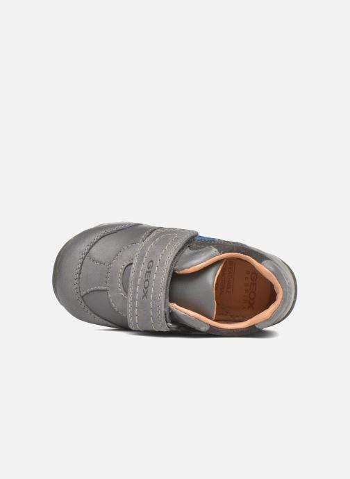 Zapatos con velcro Geox B Each Boy B540BD Gris vista lateral izquierda
