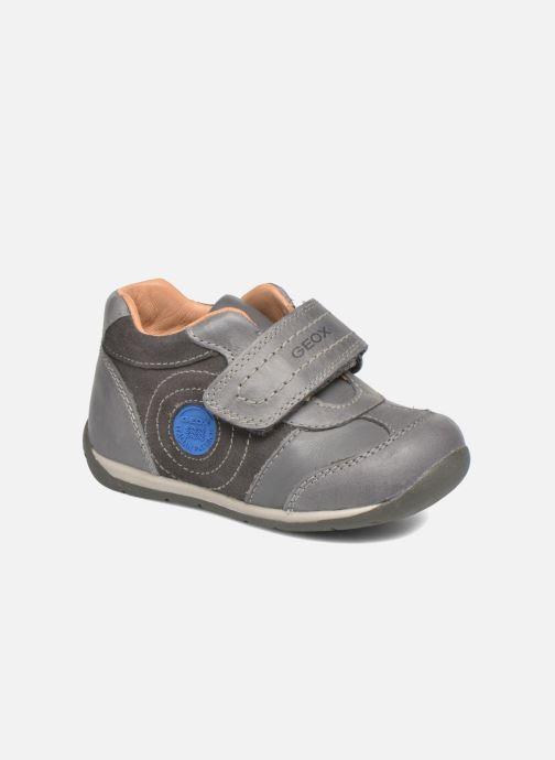 Chaussures à scratch Geox B Each Boy B540BD Gris vue détail/paire