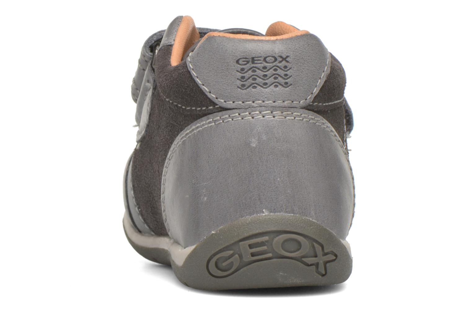 Velcro shoes Geox B Each Boy B540BD Grey view from the right