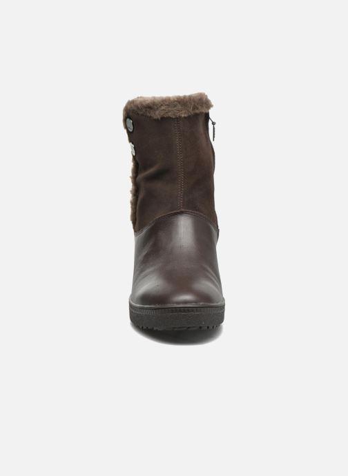Bottines et boots Geox D Amaranth High B AB D44L2C Marron vue portées chaussures
