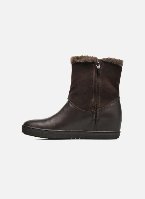 Bottines et boots Geox D Amaranth High B AB D44L2C Marron vue face