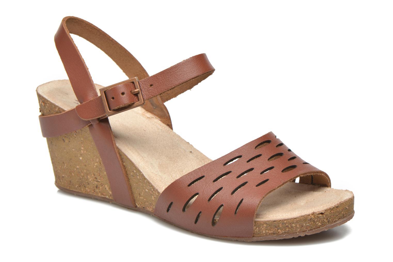 Sandaler TBS Riffah Brun detaljeret billede af skoene
