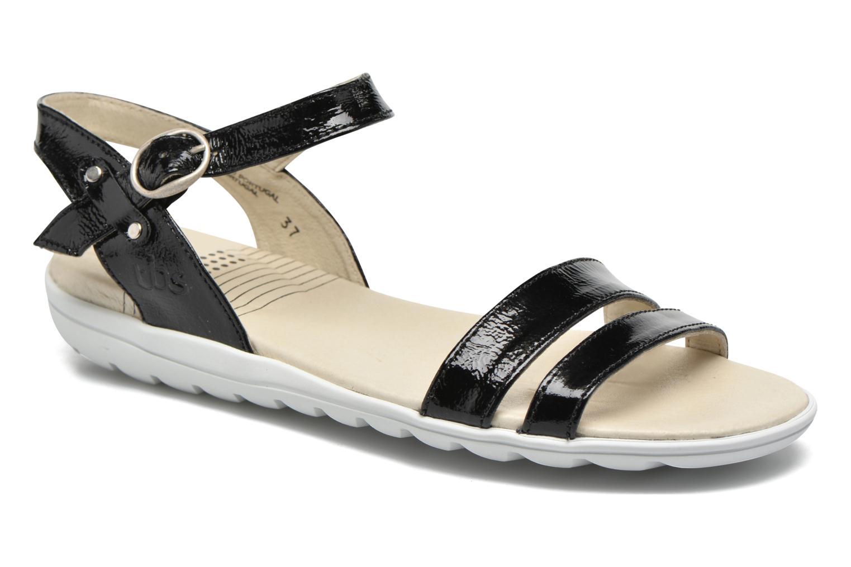 Sandaler TBS Nikkia Sort detaljeret billede af skoene