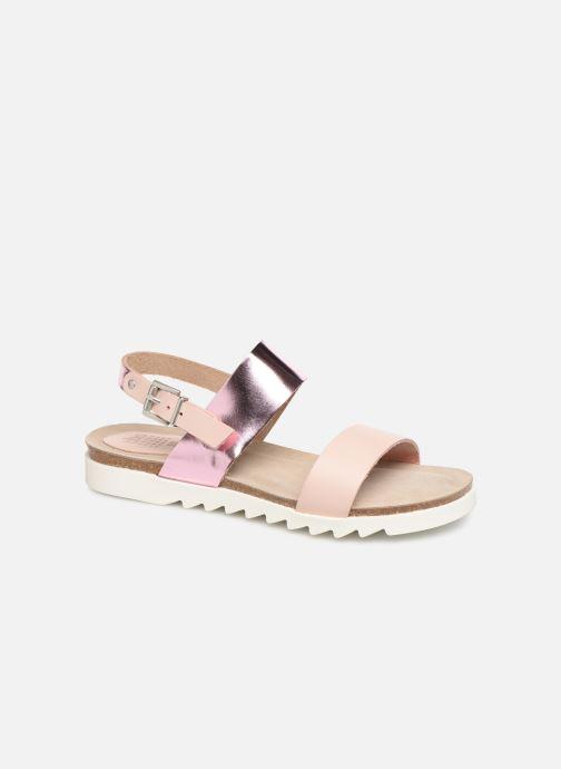 Sandals TBS Tamara Pink detailed view/ Pair view