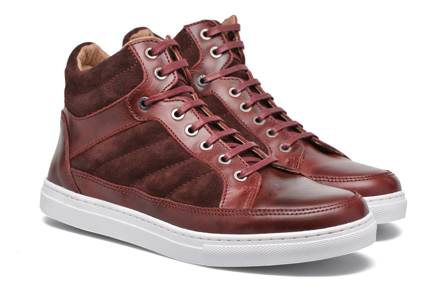 Trainers Mr SARENZA Stryges Burgundy back view