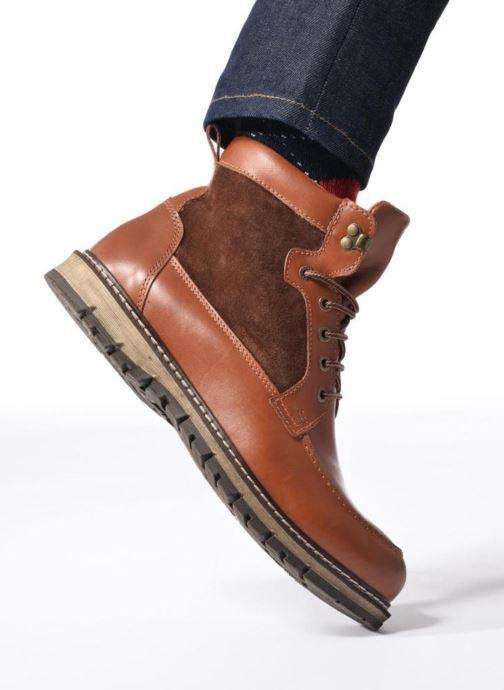 Bottines et boots Mr SARENZA Newfeel Marron vue bas / vue portée sac