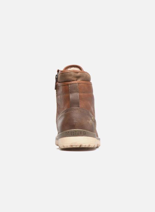 Boots en enkellaarsjes Mustang shoes Muska Bruin rechts