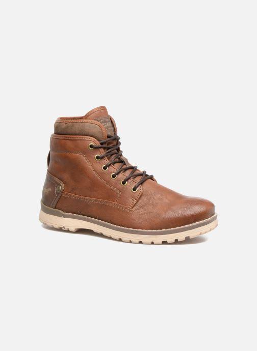 Boots en enkellaarsjes Mustang shoes Muska Bruin detail