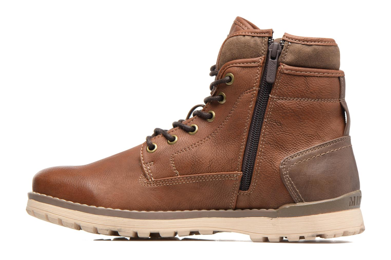 Bottines et boots Mustang shoes Muska Marron vue face