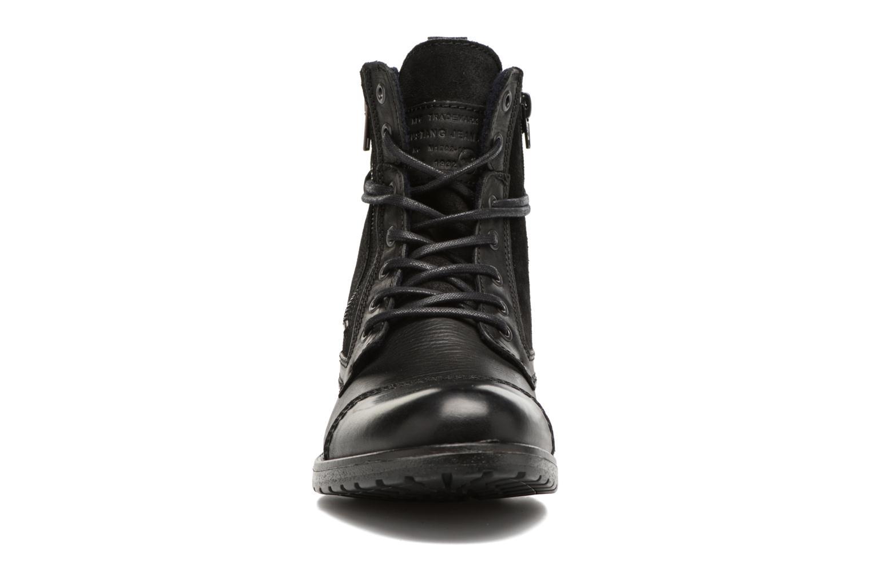Bottines et boots Mustang shoes Mikaï Noir vue portées chaussures