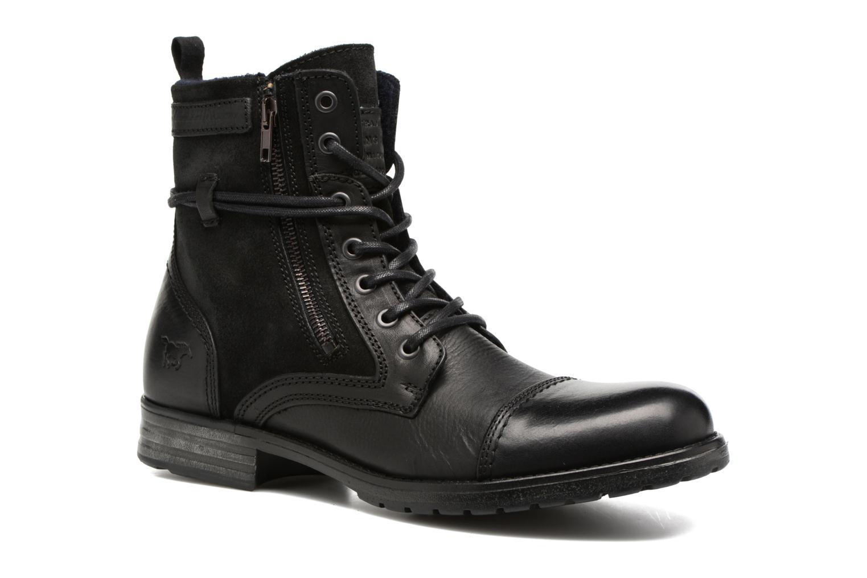 Bottines et boots Mustang shoes Mikaï Noir vue détail/paire