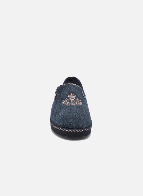 Chaussons La maison de l'espadrille Luc Bleu vue portées chaussures