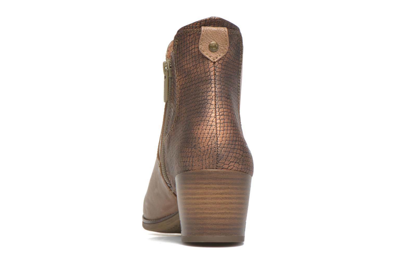 Bottines et boots Mustang shoes Mustea Marron vue droite