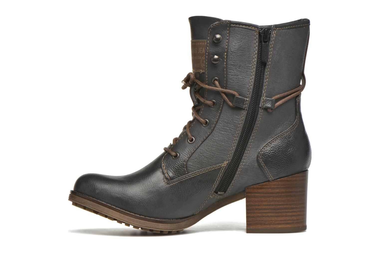 Ankle boots Mustang shoes Muasta Grey front view