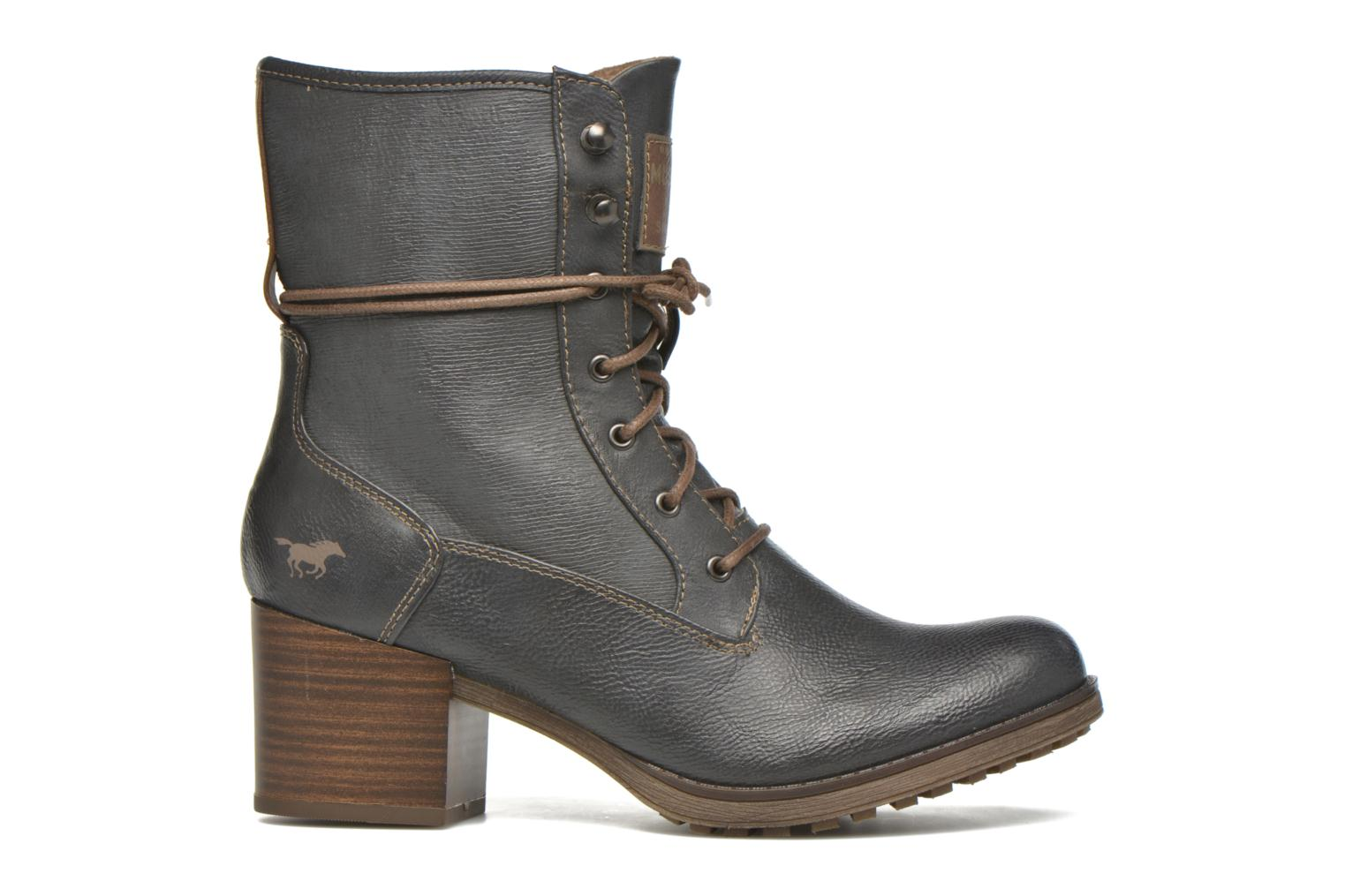 Ankle boots Mustang shoes Muasta Grey back view