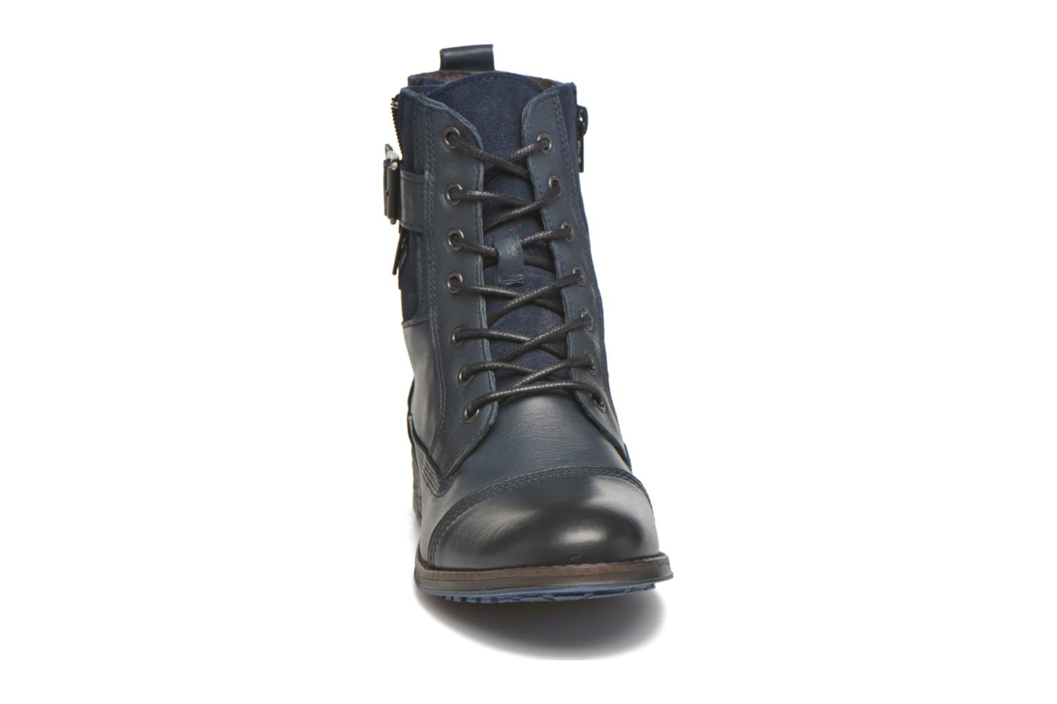 Ankle boots Mustang shoes Muchau Blue model view