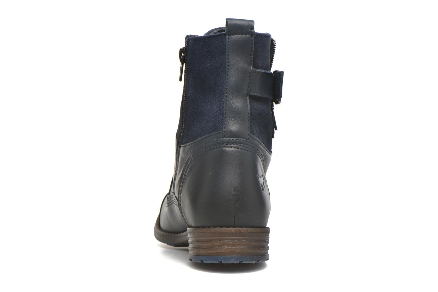 Ankle boots Mustang shoes Muchau Blue view from the right