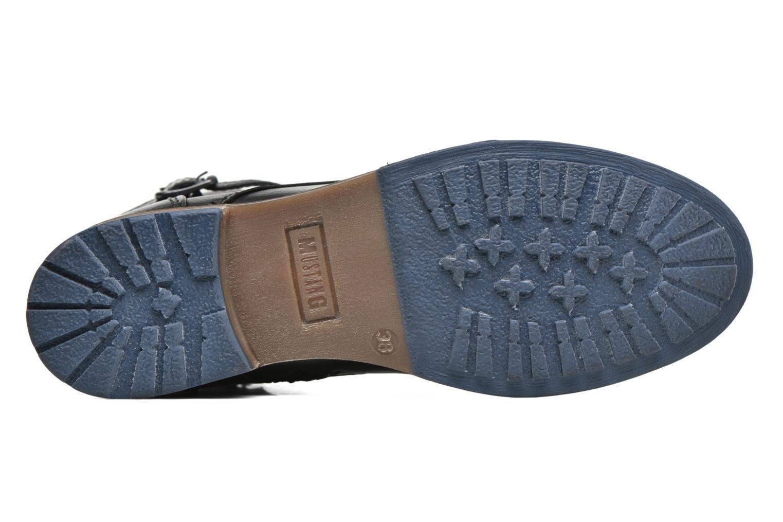 Bottines et boots Mustang shoes Muwa Noir vue haut