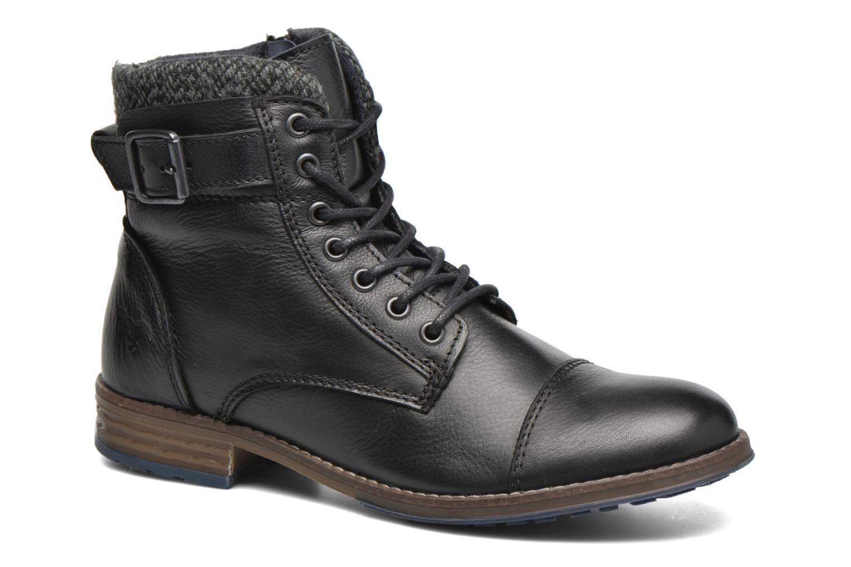 Bottines et boots Mustang shoes Muwa Noir vue détail/paire