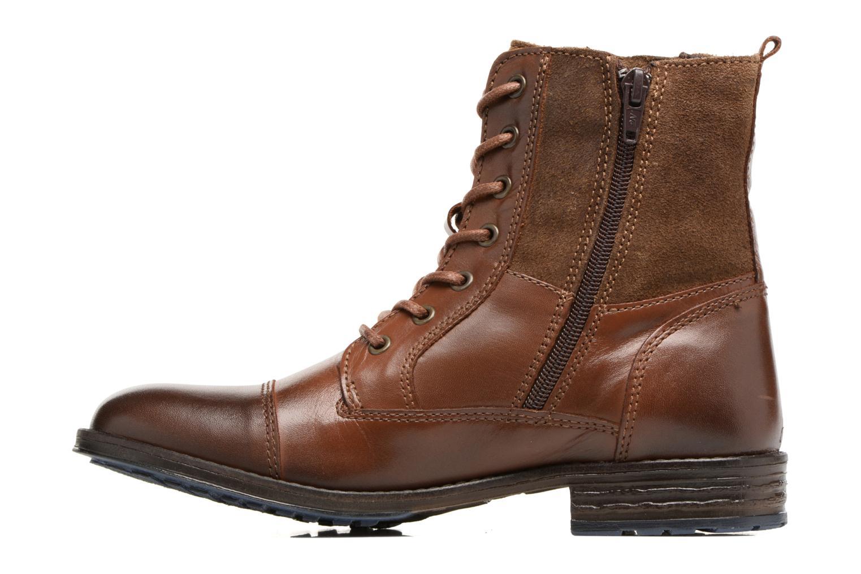 Bottines et boots Mustang shoes Muwa Marron vue face
