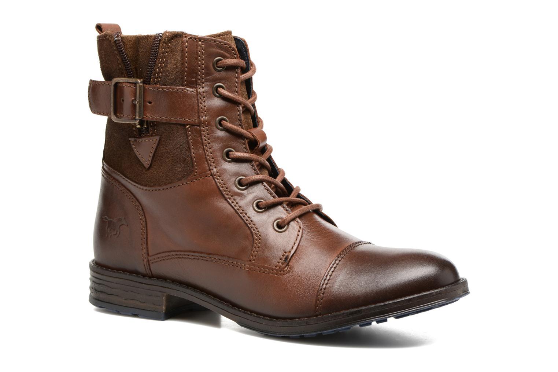 Bottines et boots Mustang shoes Muwa Marron vue détail/paire
