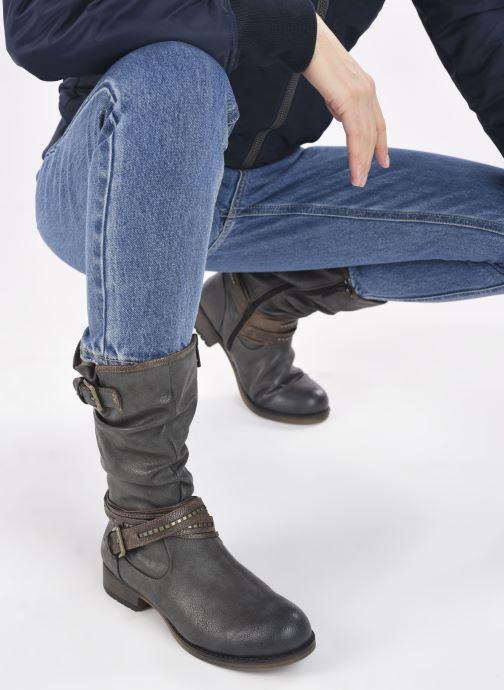 Bottes Mustang shoes Muze Gris vue bas / vue portée sac