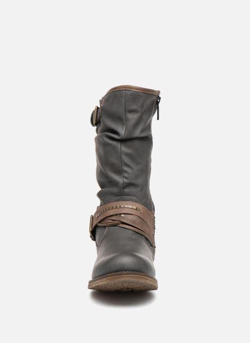 Bottes Mustang shoes Muze Gris vue portées chaussures