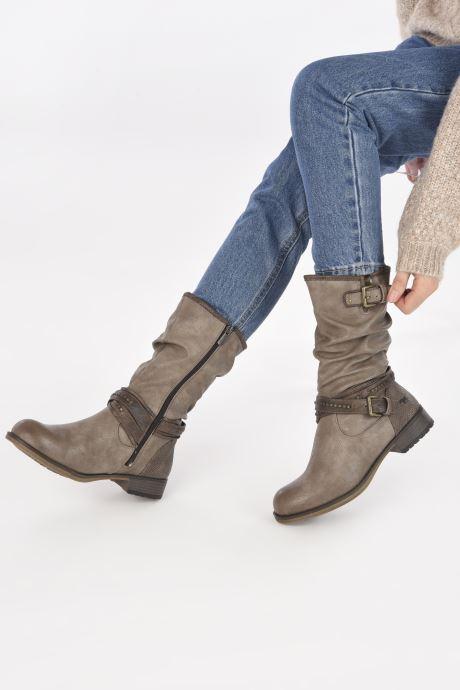 Bottes Mustang shoes Muze Marron vue bas / vue portée sac