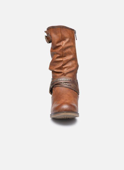 Bottes Mustang shoes Muze Marron vue portées chaussures