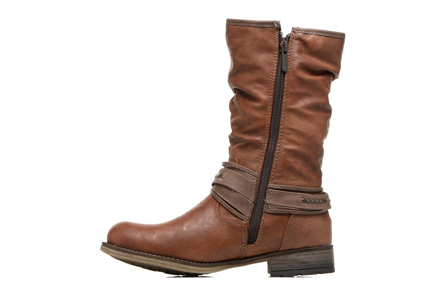 Bottes Mustang shoes Muze Marron vue face