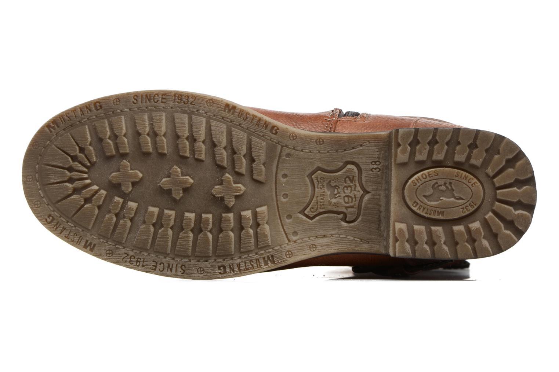 Bottes Mustang shoes Muze Marron vue haut
