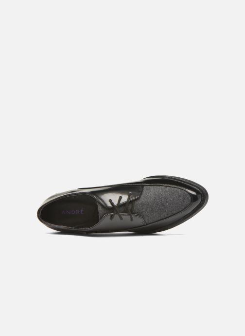 Zapatos con cordones André Cab Negro vista lateral izquierda