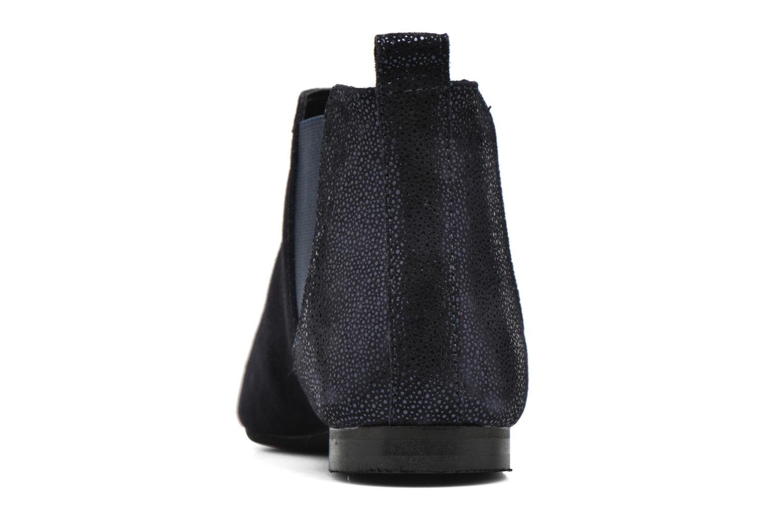 Ankle boots André Carrousel Blue view from the right