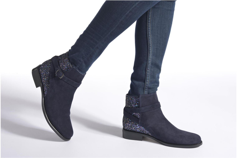 Bottines et boots André Caviar P2 Bleu vue bas / vue portée sac