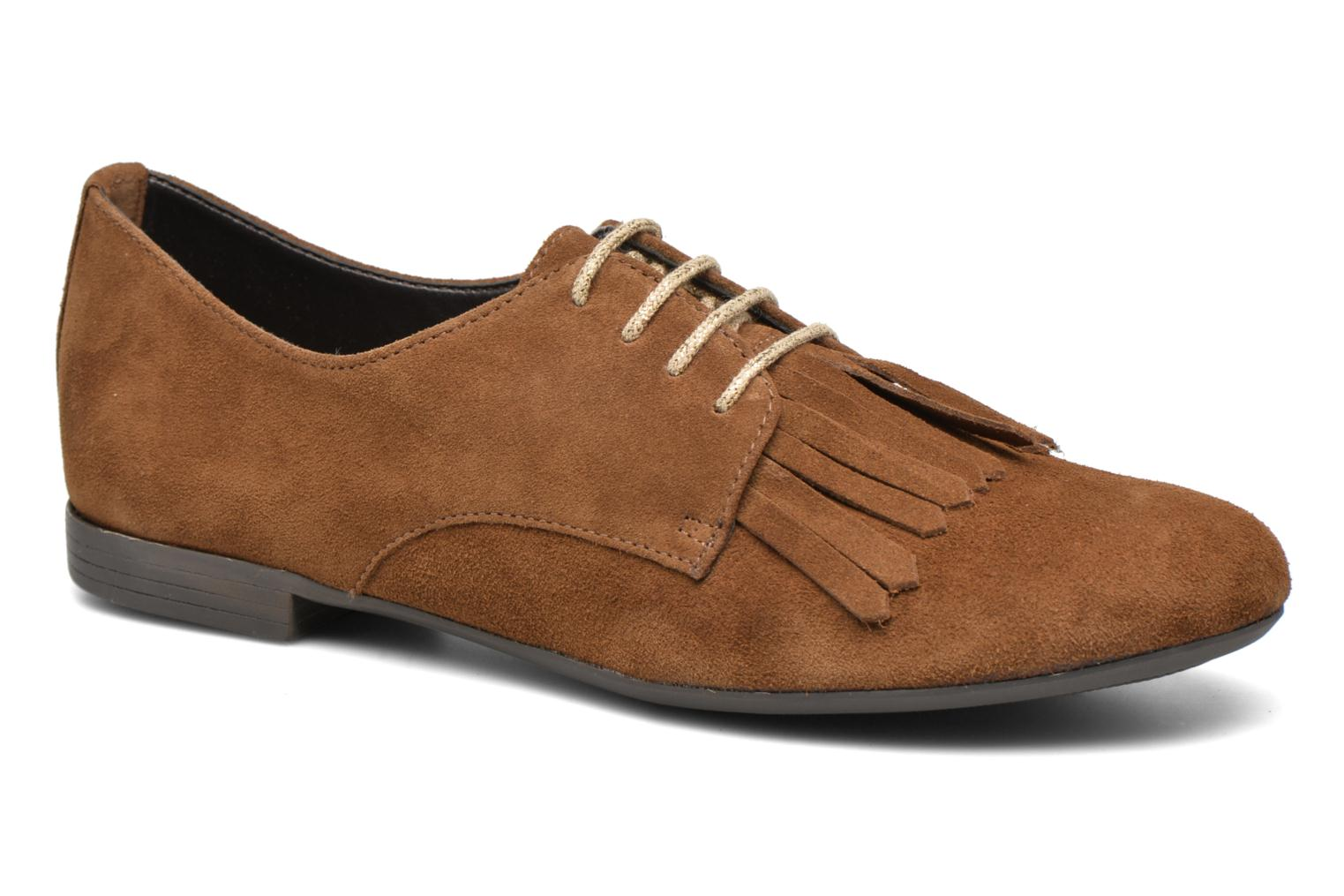 Lace-up shoes André Cheyenne Brown detailed view/ Pair view