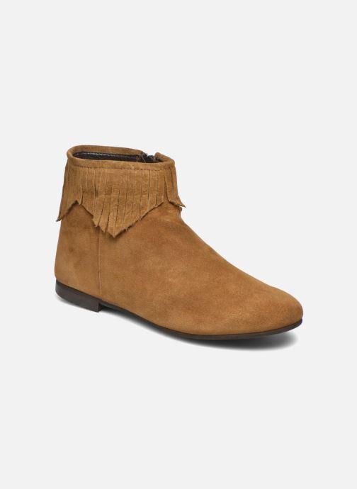 Ankelstøvler André Coachella Brun detaljeret billede af skoene