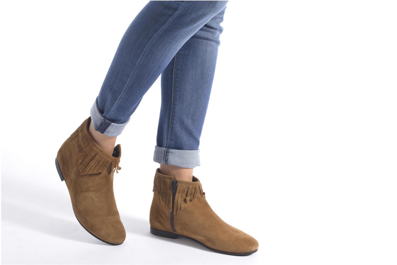 Bottines et boots André Coachella Marron vue bas / vue portée sac