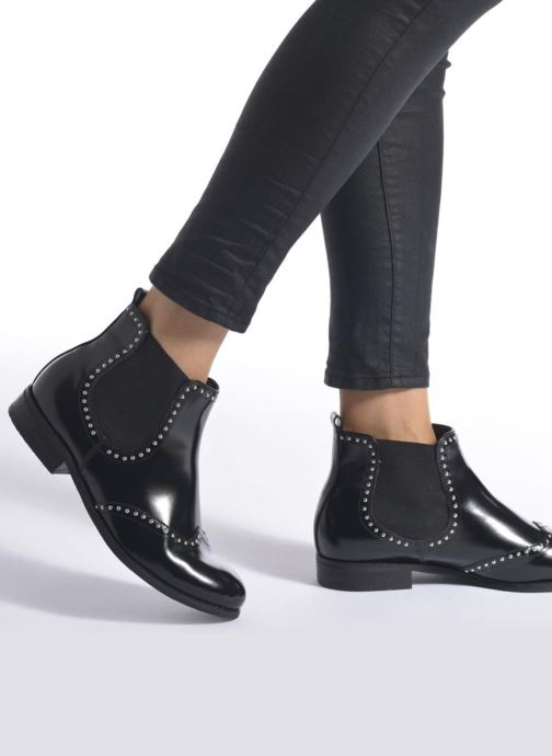 Bottines et boots André Metal Noir vue bas / vue portée sac