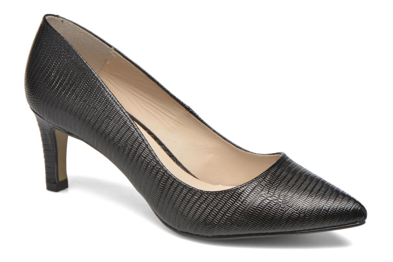 High heels André Parissa Black detailed view/ Pair view