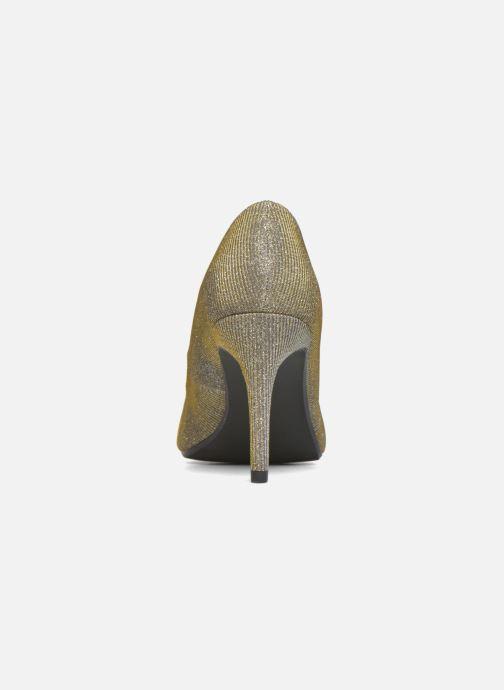 Zapatos de tacón André Prettty Plateado vista lateral derecha