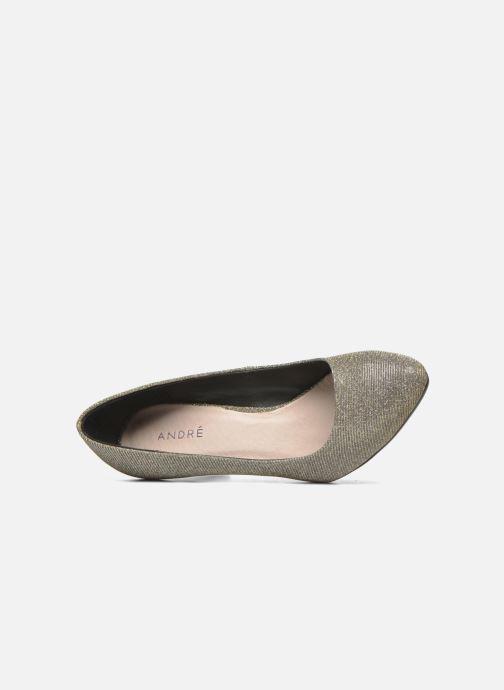 Zapatos de tacón André Prettty Plateado vista lateral izquierda