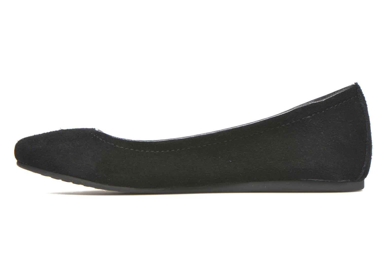 Ballerina's Crocs Crocs Lina Suede Flat Zwart voorkant