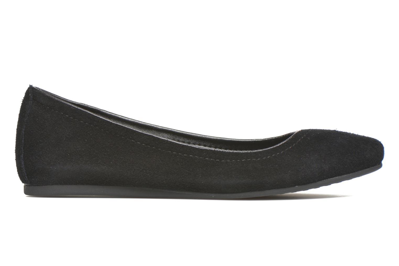 Ballerina's Crocs Crocs Lina Suede Flat Zwart achterkant