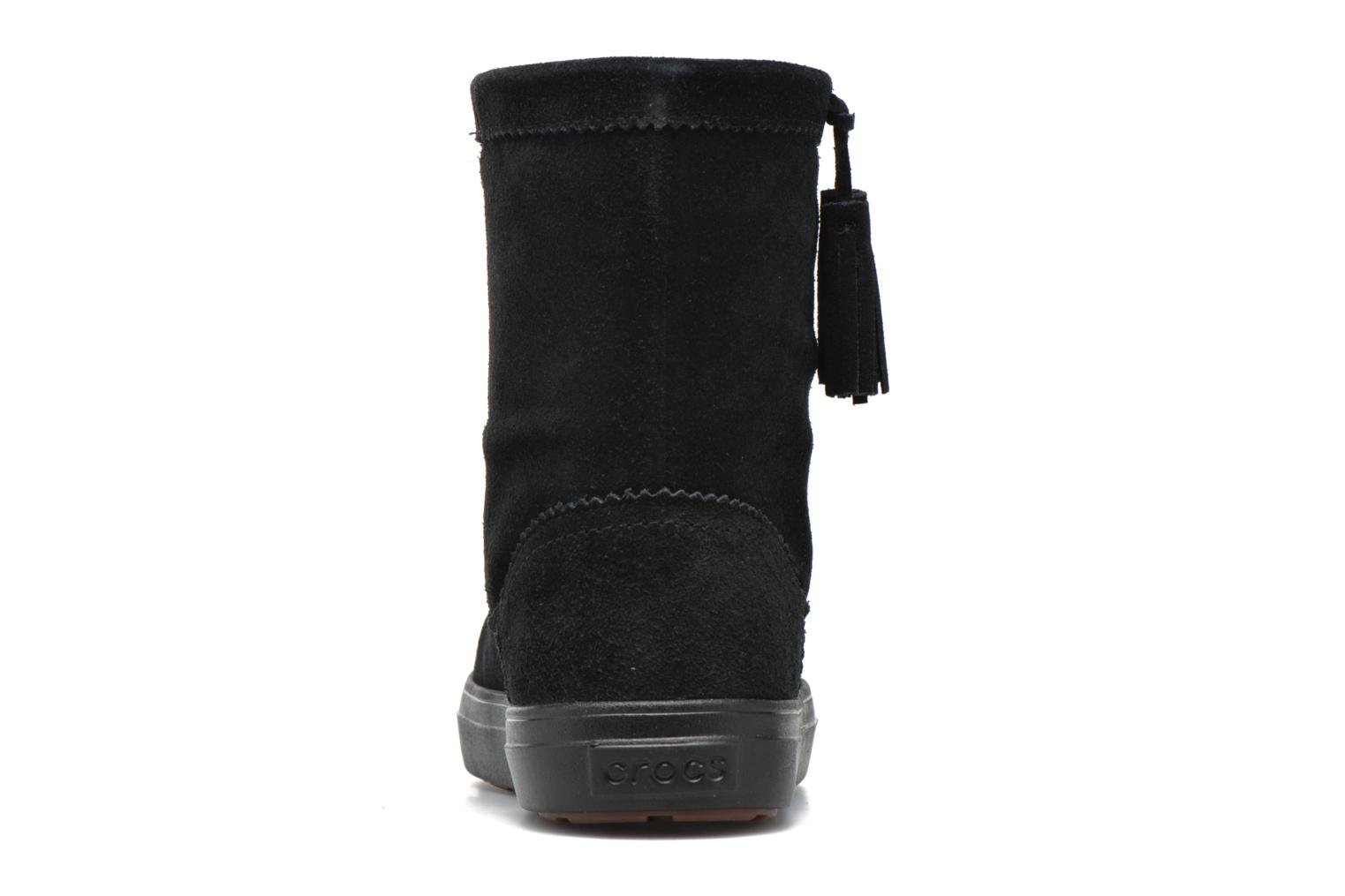 Ankle boots Crocs Lodgepoint Suede Pullon Boot W Black view from the right