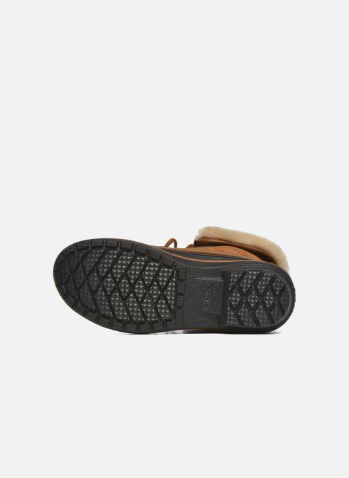 Botines  Crocs AllCast II Luxe Boot W Marrón vista de arriba