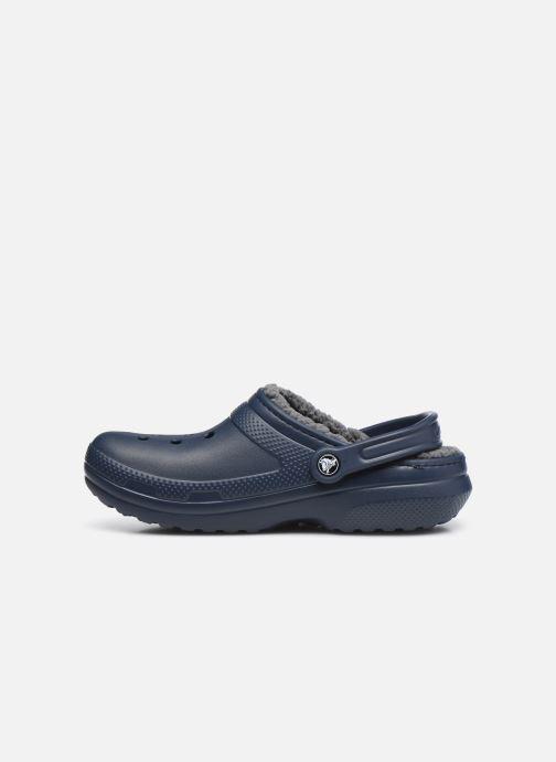 Sandalias Crocs Classic Lined clog Azul vista de frente